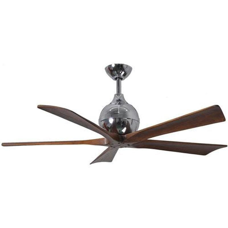 Classic Style Ceiling Fan Five Solid Walnut Stained Wooden Blades Lighting Collective