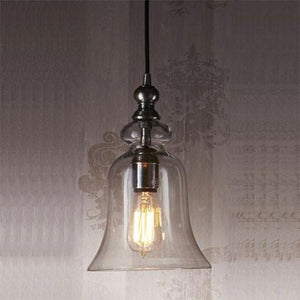 Vintage Glass Pendant Light in Silver-Pendants-Emac & Lawton-Lighting Collective