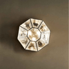 Mid-Century Modern Geometric Glass Wall Light