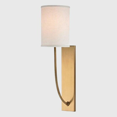 Minimalist Linen Wall Light | Assorted Finishes Brass