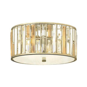 Crystal Ceiling Flush Mount Light | Assorted Finishes-Ceiling Lights-ELSTEAD (Lightco)-Lighting Collective