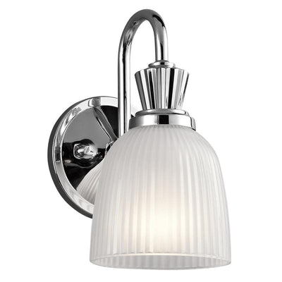 Classic Chrome and Glass Bell Shade Wall Light | Assorted Sizes-Wall Lights-ELSTEAD (Lightco)-Lighting Collective