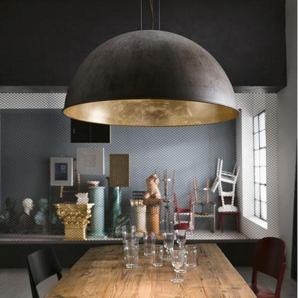 Large Modern Dome Pendant Light Italian Made Lighting