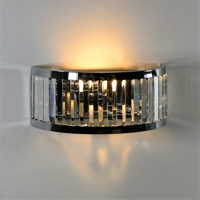 Crystal Traditional Manhattan Wall Bracket | Chrome-Wall Lights