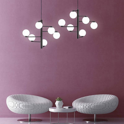 Geometric Orb Pendant Light Range | Assorted Styles black 6 orb horizontal
