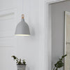 Classic Scandinavian Pendant Grey Square Wood Lifestyle