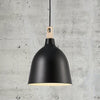 Classic Scandinavian Pendant Black Square Wood