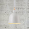 Classic Scandinavian Pendant Grey Wood Square