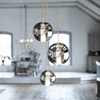 Round Glass Moon Pendant | Lighting Collective
