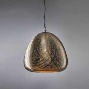 Textured Dome Hanging Nickel Pendant Light | Lighting Collective