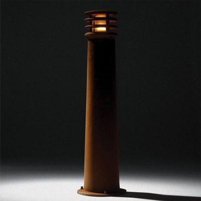 Cast Iron Belgian Bollard Light with Rust Finish | Two Sizes-Bollard-Royal Botania-Lighting Collective