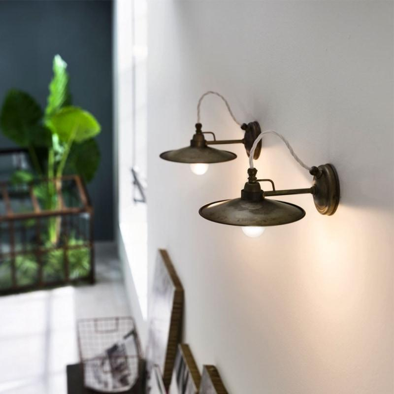 Brass or Iron Wall Light - Two Lights