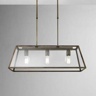 Italian Made Iron Bench Lantern | Two Shapes-Pendants-IL FANALE (Lightco)-Lighting Collective