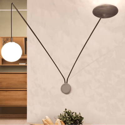Contemporary Extended Brass Wall Lamp