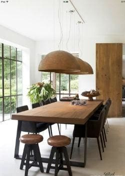 Large Dome Pendant Lights Over Dining Table | Lighting Collective