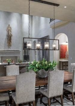 Rectangular Pendant Light in Luxurious Dining Room | Lighting Collective