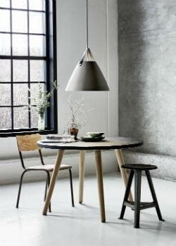 Scandinavian Pendant Light with Leather Strap | Lighting Collective