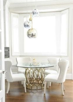 Luxe Metallic Pendant Light Cluster Dining Room |