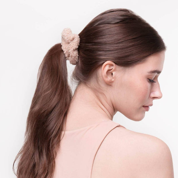 Kitsch Textured Scrunchie Set in Sand