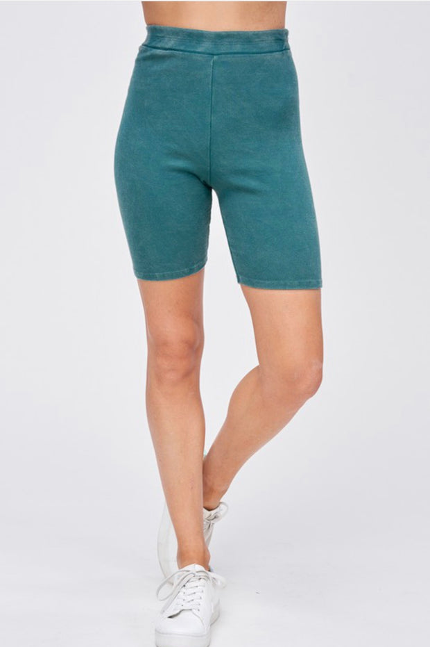 Rise and Shine Biker Shorts in Emerald