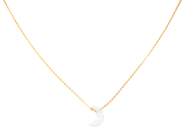 May Martin Opalite Moon Necklace