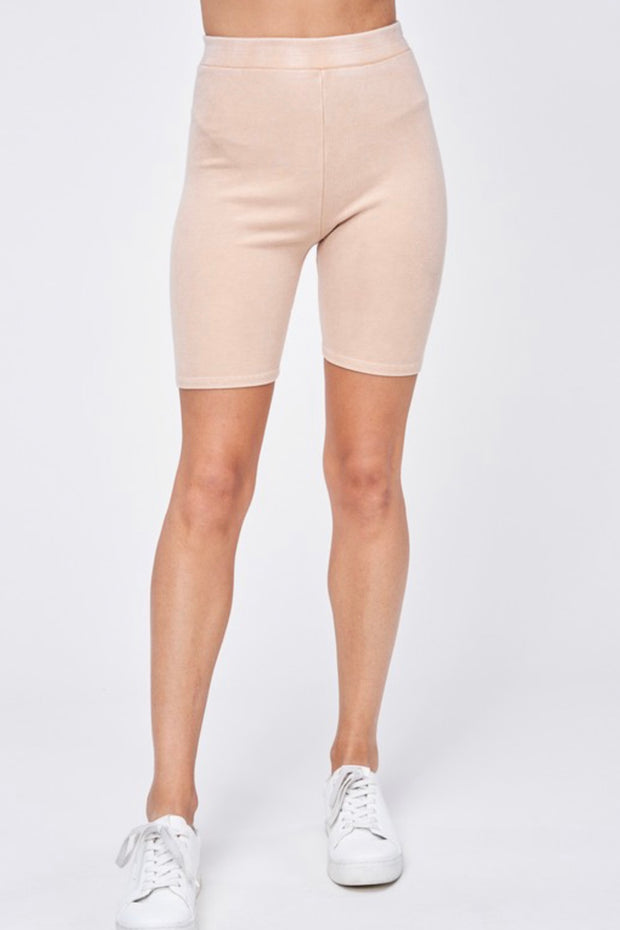 Rise and Shine Biker Shorts in Tan