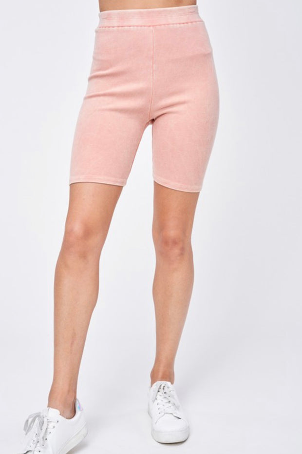 Rise and Shine Biker Shorts in Peach