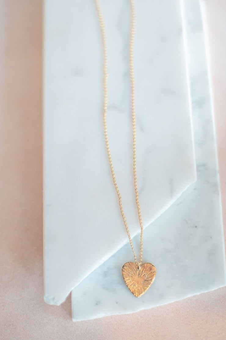 Paradigm Design Large Heart Sunburst Necklace