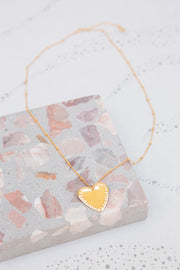 Paradigm Large Studded Heart Necklace