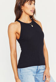 Project Social T Perry Rib Tank in Black