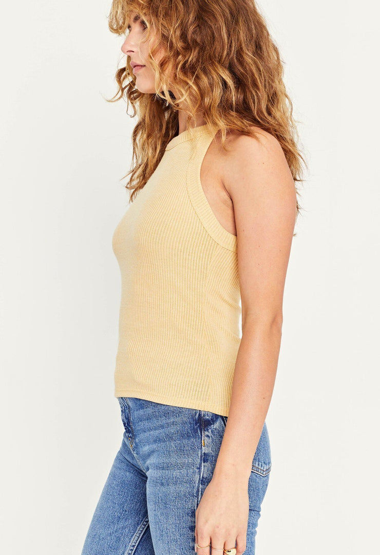 Project Social T Perry Rib Tank in Dandelion