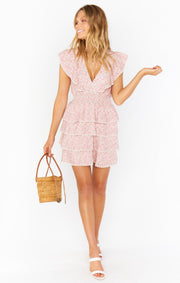 Show Me Your Mumu Sweet Ruffle Mini Dress in Floral