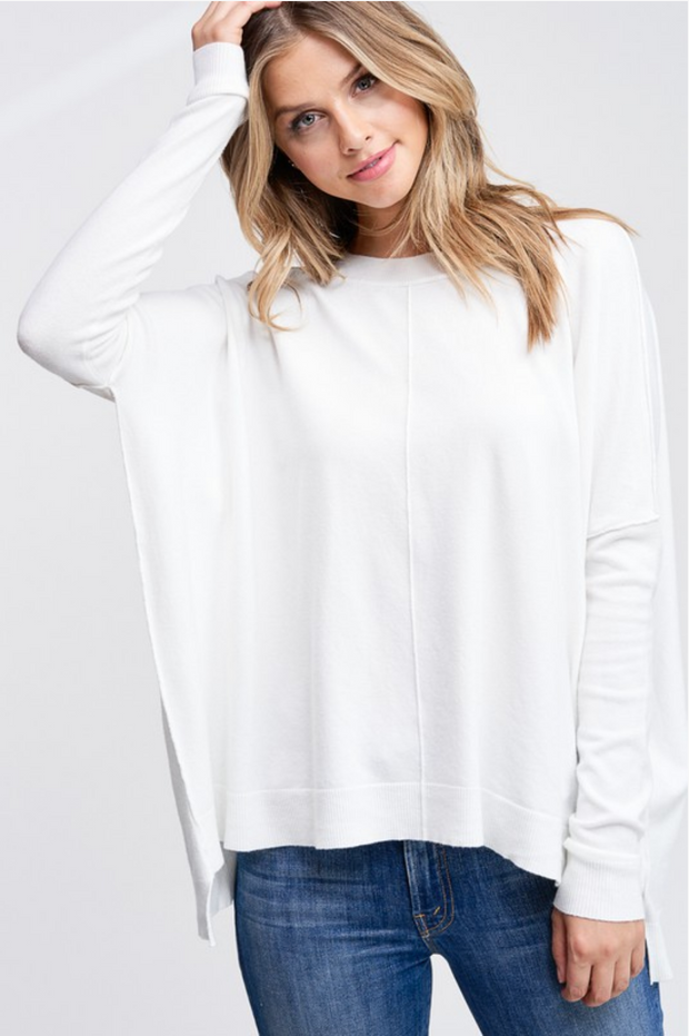 CJ Cruz Abby Sweater in White