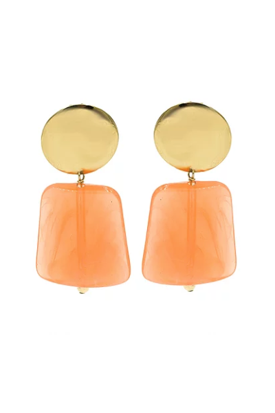 Paradigm Design Bell Earrings in Coral