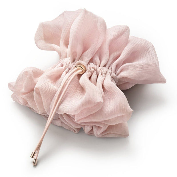Kitsch Drawstring Chiffon Scrunchie in Blush