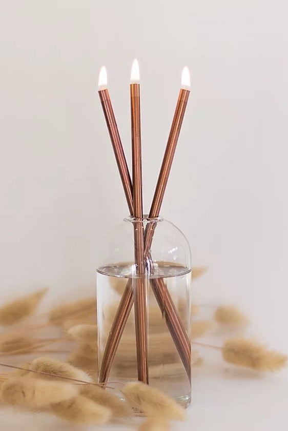 Everlasting Candle Co Candlesticks in Rose Gold