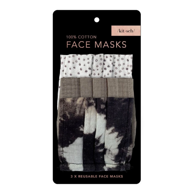 Kitsch Cotton Face Mask in Neutral-3 Piece Set
