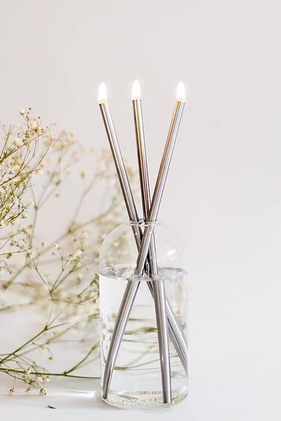 Everlasting Candle Co Candlesticks in Silver