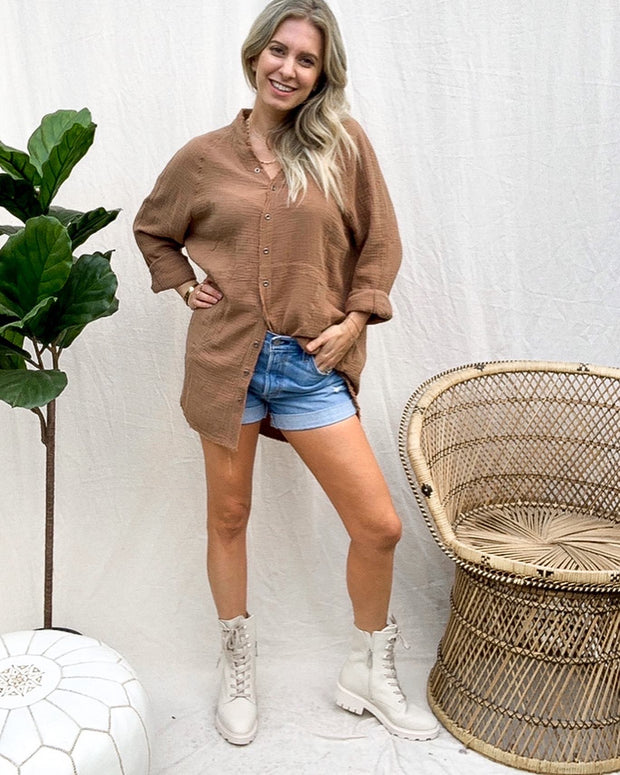 CJ Cruz Mocha Tunic