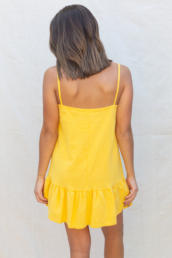 Summit + Peak Huntington Dress in Yellow