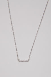 Adina Reyter Tiny Pave Sterling Silver Diamond Bar Necklace