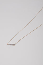 Adina Reyter Tiny Pave 14K Gold Diamond Bar Necklace