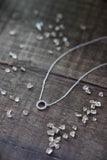 Adina Reyter Tiny Pave Diamond Circle Necklace