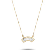Adina Reyter Heirloom Baguette Arc Necklace