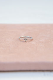 Adina Reyter Super Tiny Pavé Triangle Ring