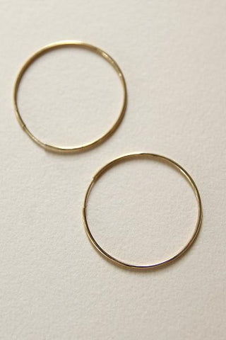 Amarilo Gold Seamless Hoops