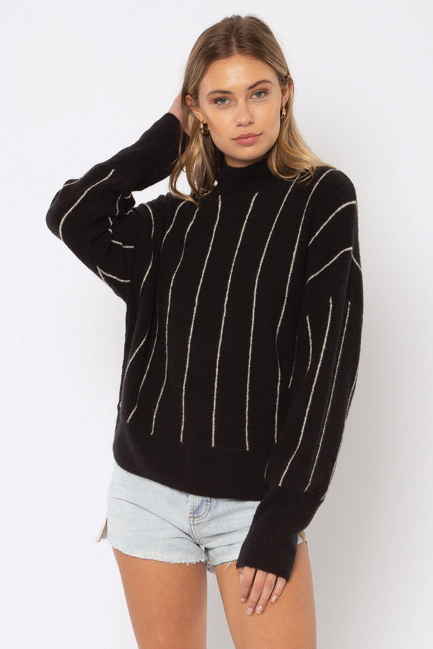 Amuse Society Aline Sweater in Black