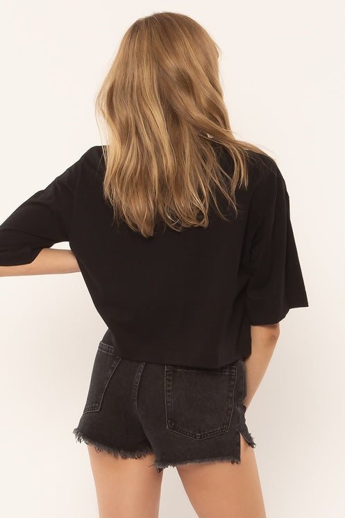 Amuse Society Easy Life Top in Black