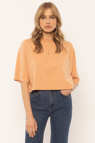 Amuse Society Easy Life Top in Peach