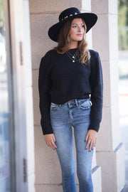 Amuse Society Florence Knit Sweater in Black
